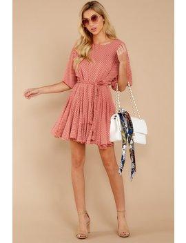Inner Circle Pink Polka Dot Dress by Aakaa