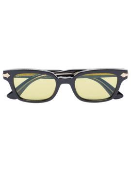 Black Acetate Yellow Lens Sunglasses by Gucci Eyewear