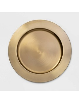 "13""-stainless-steel-decorative-charger-gold---threshold by threshold"