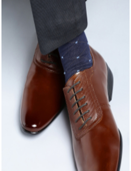 Men Tan Brown Formal Oxford Shoes by Invictus