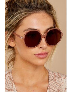 Glancing Back And Forth Brown Sunglasses by Creative Group