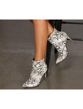 Fierce Fang Stiletto Booties by Windsor