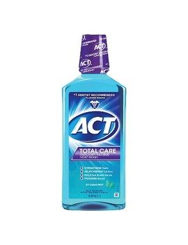Act Total Care Anticavity Fluoride Mouthwash Icy Clean Mint   33.8 Fl Oz by Act