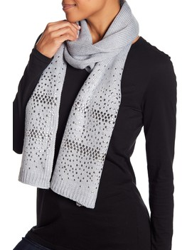 Studded Knit Scarf by Michael Kors