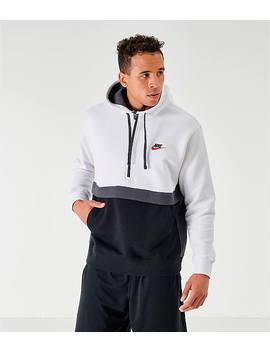 Men's Nike Sportswear Club Fleece Half Zip Hoodie by Nike