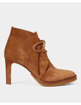 Renelle Calf Suede Bootie by Ralph Lauren