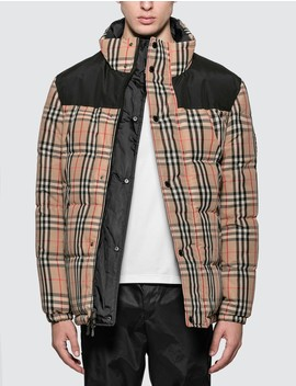 Reversible Vintage Check Recycled Polyester Jacket by              Burberry