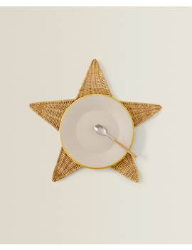 Starshaped Fibre Placemat   Table Linen   Dining   Holidays by Zara Home