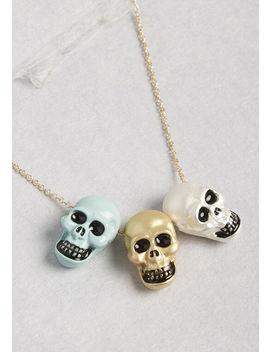 Skull Spirit Short Pendant Necklace by Modcloth
