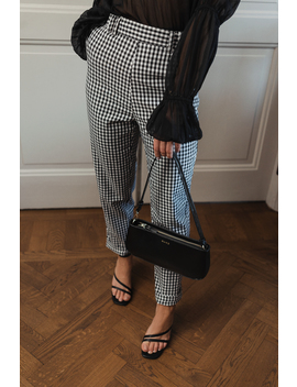 Checked Suit Pants Svart by Donnarominaxnakd
