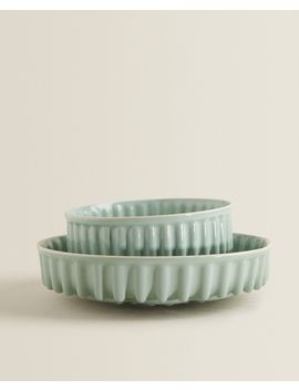 Stoneware Baking Mould With A Raised Design  View All   New In by Zara Home