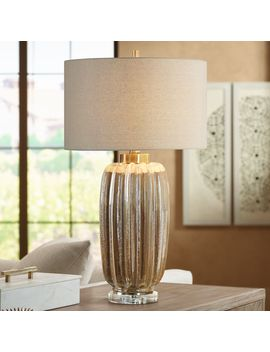 Uttermost Gistova Ivory And Rust Brown Ceramic Table Lamp by Lamps Plus
