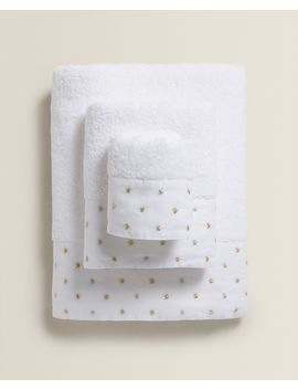 Towel With Embroidered Stars View All   New In by Zara Home