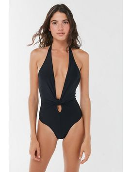 Lioness Kaia Plunging Halter One Piece Swimsuit by Lioness