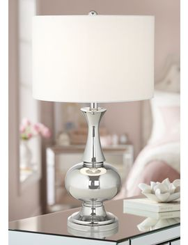 Corona Polished Chrome Table Lamp by Lamps Plus