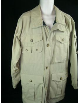 Mens' Woolrich Safari Style Mackinaw Shirt Jacket Windbreaker Sz Sm Eic! by Woolrich