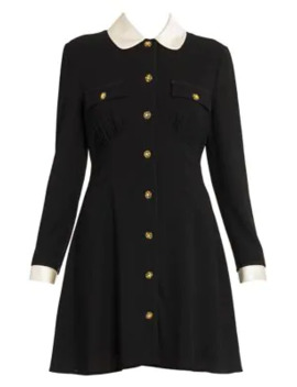 Peter Pan Collar A Line Dress by Miu Miu