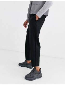 Bershka Carrot Fit Pants With Chain In Black by Bershka's
