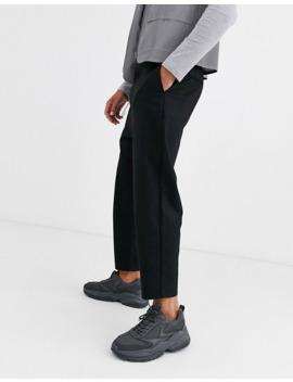 bershka-carrot-fit-pants-with-chain-in-black by bershkas