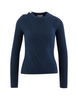 Cotton Jumper by Ganni