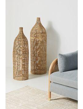 Birdie Wicker Vases, Set Of 2 by Anthropologie