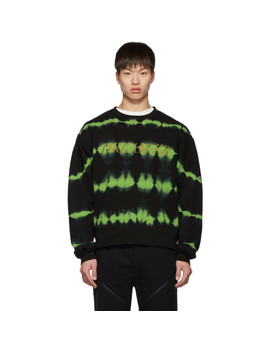 Black & Green Overdyeing Sweatshirt by Christian Dada