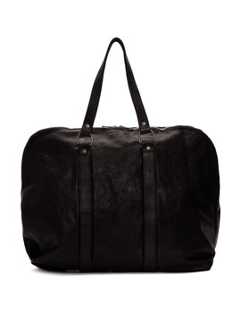 Black Small Weekender Duffle Bag by Guidi