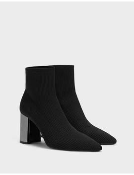 Stiefeletten Mit Absatz Und Sock Boots by Bershka