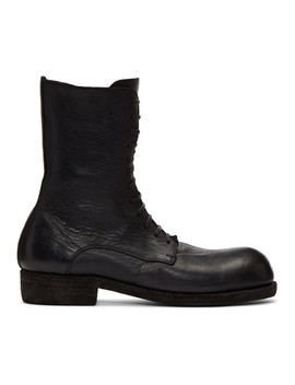 Black Big Daddy Lace Up Boots by Guidi