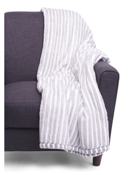 Campla Plaid Printed Loft Fleece Decorative Throw by Tj Maxx