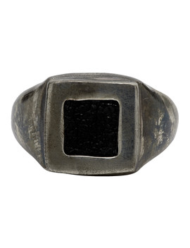 Silver Square Ring by Guidi