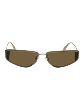 Gunmetal Skull Sunglasses by Alexander Mcqueen