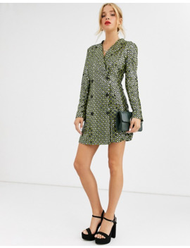 Dusty Daze Blazer Dress In Sequin Grid by Dusty Daze