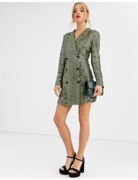 dusty-daze-blazer-dress-in-sequin-grid by dusty-daze