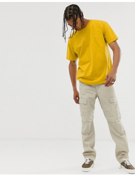 Carhartt Wip Chase T Shirt In Colza Yellow by Carhartt Work In Progress