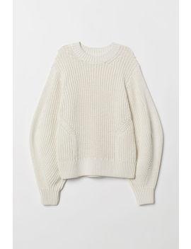 Pletený Svetr Z Bavlny by H&M