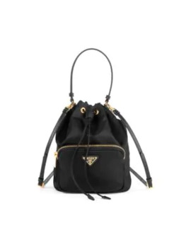 Nylon Bucket Bag by Prada