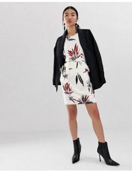 Emme Absract Floral Belted Mini Dress by Emme's