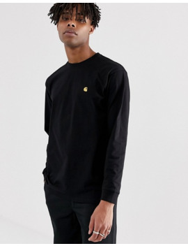 Carhartt Wip Long Sleeve Chase T Shirt In Black by Carhartt Work In Progress