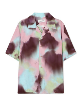 Embroidered Tie Dyed Voile Shirt by Ambush®