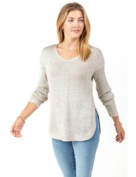 Faye Elbow Patch Sweater by Francesca's