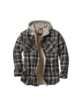 Legendary Whitetails Men's Camp Night Berber Lined Hooded Flannel by Legendary Whitetails
