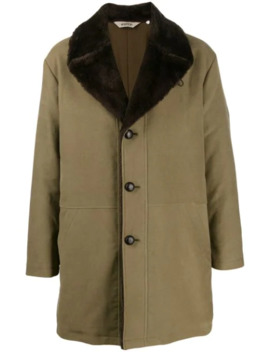 Oversized Collar Single Breasted Coat by Aspesi