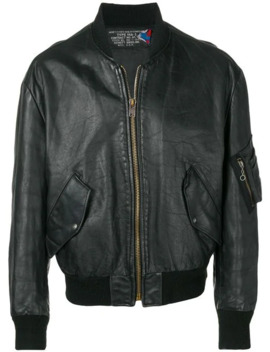 1980's Leather Bomber Jacket by A.N.G.E.L.O. Vintage Cult