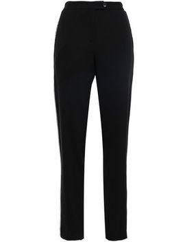 Crystal Embellished Twill Tapered Pants by Christopher Kane