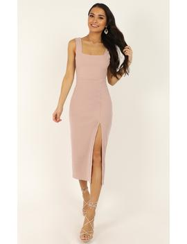 Sticking With My Strengths Dress In Blush by Showpo Fashion