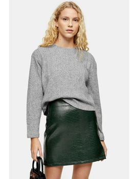 Split Back Cut And Sew Jumper by Topshop