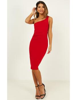 Got Me Looking Dress In Red by Showpo Fashion