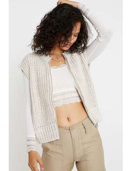 Uo Zip Through Knit Vest by Urban Outfitters