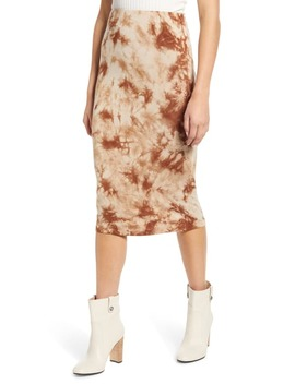 Tie Dye Midi Skirt by Love, Fire